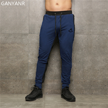 цены GANYANR Running Pants Men Training Sports Leggings Jogging Fitness Gym Elastic Sportswear Workout Football Sweatpants quick dry