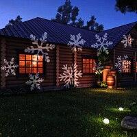 Kmashi Открытый Снежинка свет проекции сад Ночник проектор свадьбу Новогодние товары украшения пейзаж лампа нам