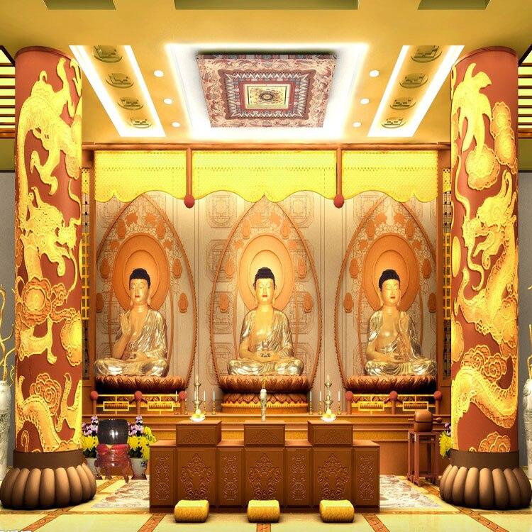 Custom 3d mural wallpaper 3D visual relief Buddha wallpaper living room sofa TV background wallpaper mural