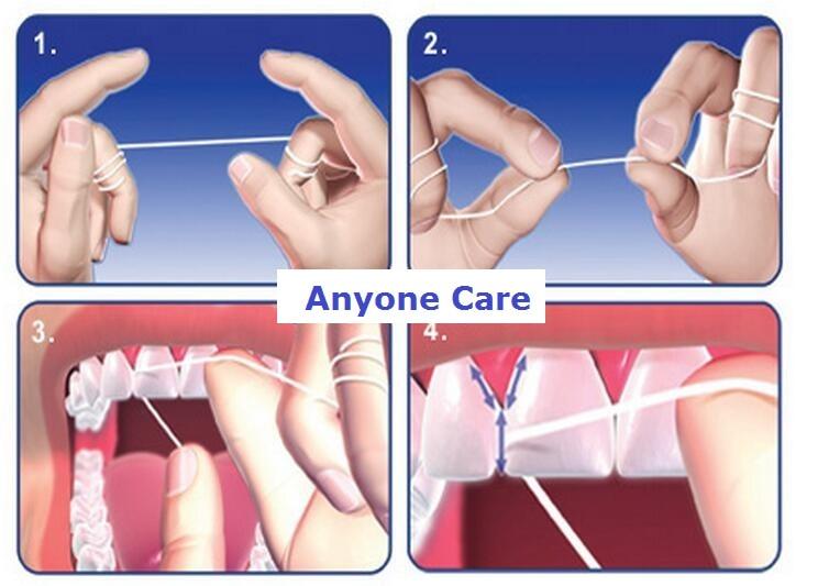 6 шт./лот свежий устные гигиена полости рта зубная нить 50 м воск ментол плоский провод зубы очистительные Уход за полостью рта зубная нить er