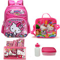 16 inch Children school bags set for teenagers girls hello kitty school backpack mochila escolar kids bags for 6-15 old child