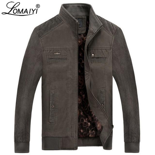 Куртка LOMAIYI Мужская зимняя, жакет из чистого хлопка, с воротником стойкой, флисовая подкладка, повседневная верхняя одежда, BM290