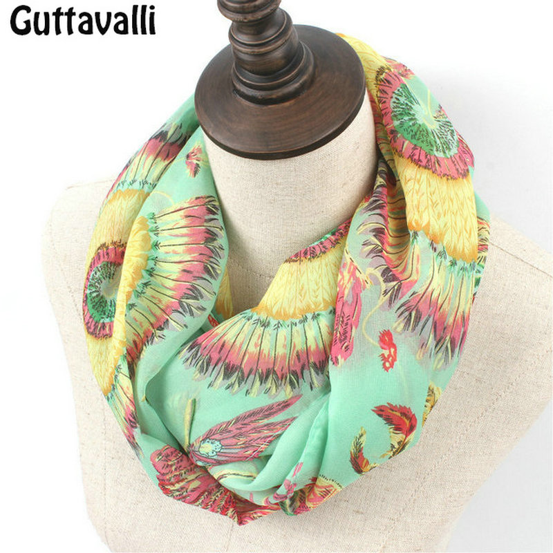 Guttavalli Female Stripe Dot Ring Scarf Fashion Woman Autumn Lavender Silk Infinity Scarves Nice Spring Chevron Print Loop Shawl