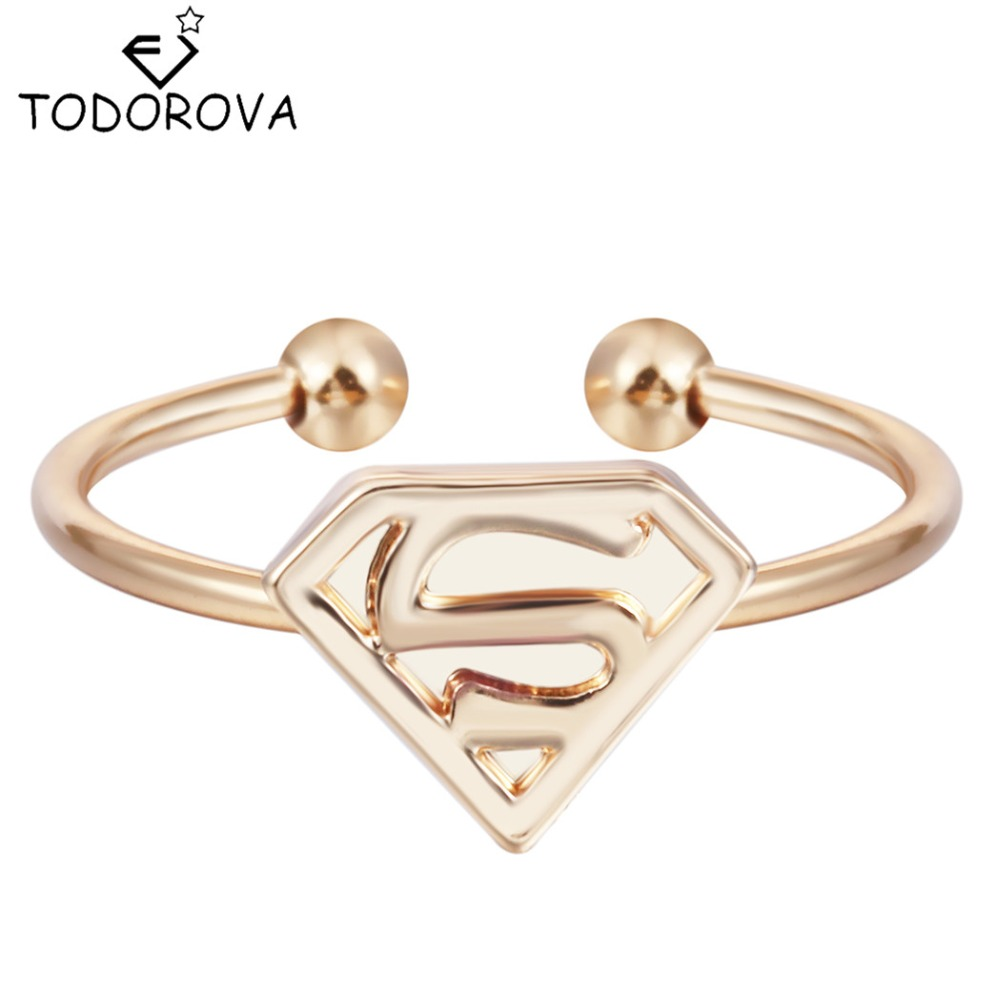 Todorova Gold Silver Adjustable Rings For Women Letter S Superman Rings  Wedding Band Engagement Rings Brand