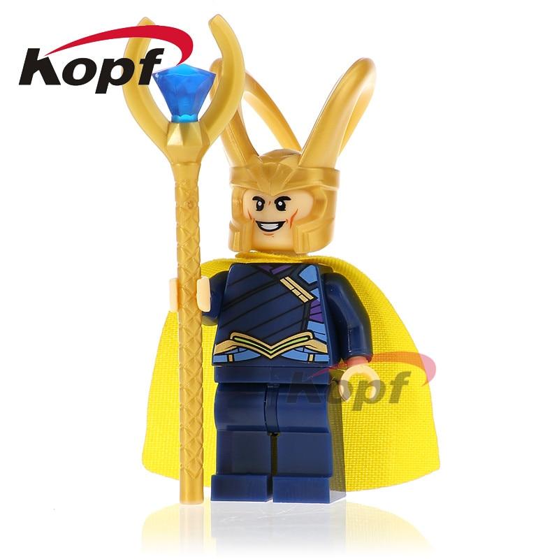 XH 655 Building Blocks Loki Figures Marvel Avengers Super Heroes Star Wars Model Action Bricks Kids Toys Collection Hobbies Gift
