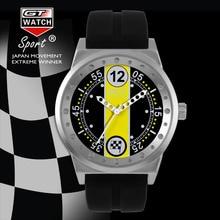 GT RELOJ Extreme Bandera Montres Amarillo Dial Relojes Hombres reloj de Cuarzo Reloj de Pulsera Estilo de La Moda Unisex de Silicona Stap