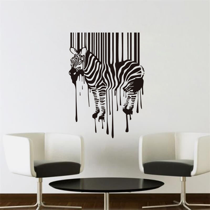 Zebra Wall Sticker Qr Code Horse Vinyl Art Mural Home Decor Funny Wall  Deciration Accessories For Part 44