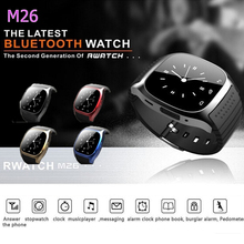 Hot Smartwatch M26 Sport Bluetooth Smart Watch Music Player Pedometer Stopwatch For apple IOS Android wristwatch