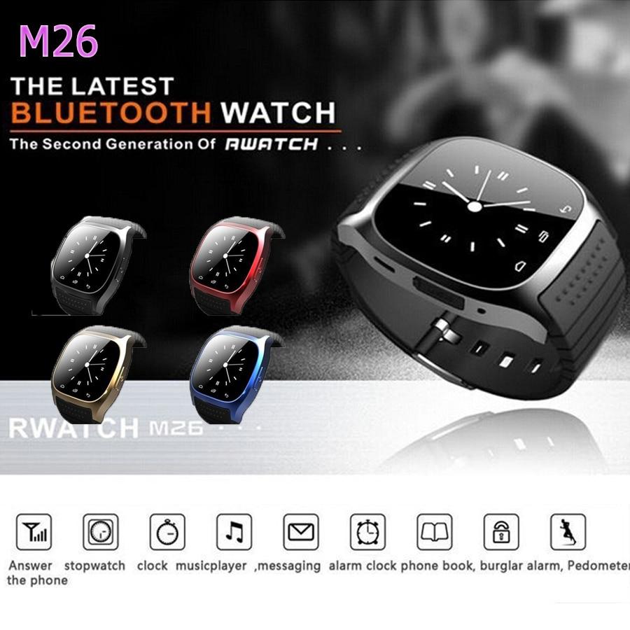 Hot font b Smartwatch b font M26 Sport Bluetooth Smart Watch Music Player Pedometer Stopwatch For