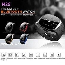 Heißer Smartwatch M26 Sport Bluetooth Smart Uhr Musik-player Schrittzähler Stoppuhr Für apple IOS Android armbanduhr mit uhrenbox