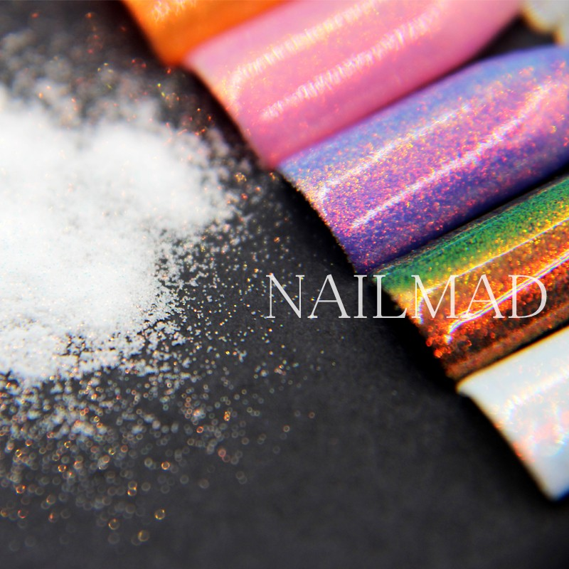 10ml Nail Art Fairy Dust Nail Glitters Gold Glitter Powder Nail ...