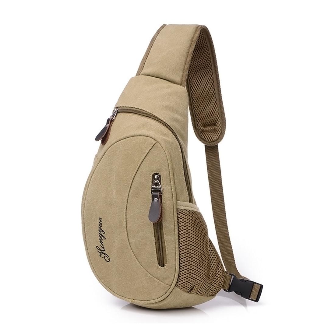 HIPSTEEN 2018 Men Bag Male Canvas Chest Bag Travel Mens Satchel Chest Pack Soft Back Bag Single Shoulder Bag For Men Teenager