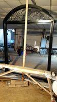 Szanghaj Chiny fabryka produkcji kute Żelazne drzwi wysokiej jakości eksport do USA, model hench-ad34