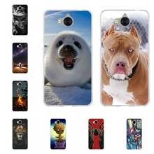 For Huawei Y5 2017 / Y6 2017 MYA-L03 Cover TPU For Huawei Y5 III Y5 3 Case Cute Pattern For Huawei Honor 6 Play Nova Young Shell все цены