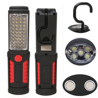 Супер яркий зарядка через USB 36 + 5 светодиодный фонарик свет работы факел linternas магнитных + крюк мобильный Запасные Аккумуляторы для телефоно...