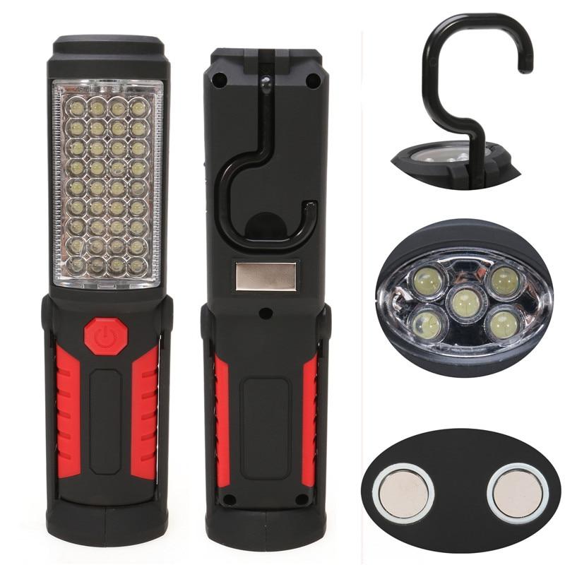 فوق العاده روشن USB شارژ 36 + 5 چراغ قوه LED - روشنایی قابل حمل