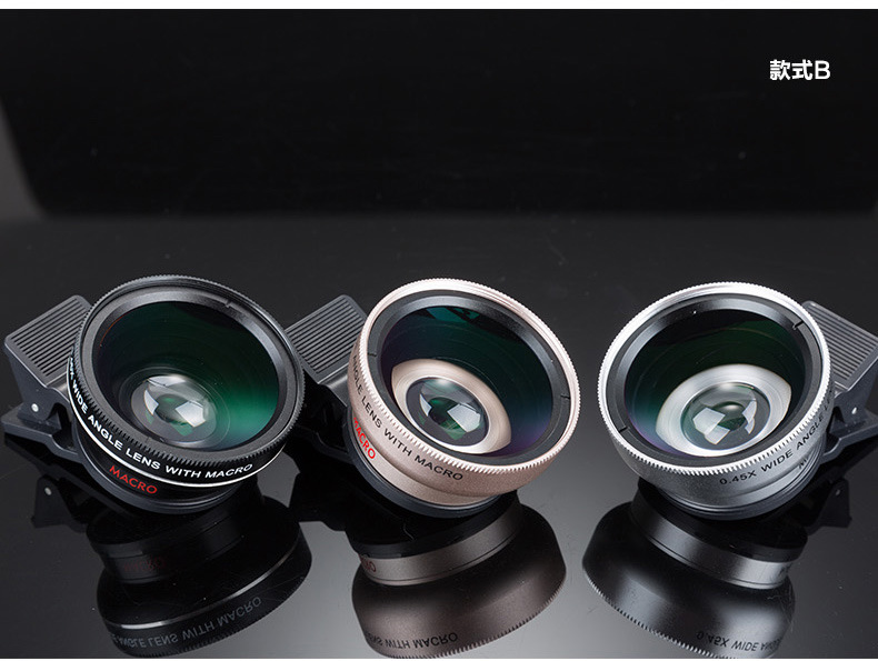 Universal Professional HD Camera Lens 0.45x Super Wide Angle Lens + Macro Lens for iPhone for huawei FOR Samsung Mobile Phone 6