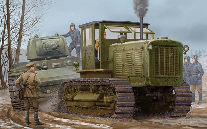 Trumpeter model 05539 1/35 Russian ChTZ S-65 Tractor with Cab plastic model kit стоимость