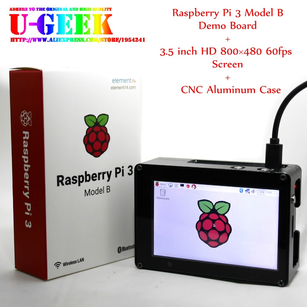 UGEEK Raspberry Pi  inch  HD TFT Screen Aluminum CNC case