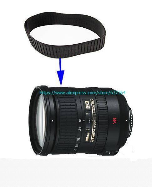 Super qualidade nova lente zoom grip borracha para nikon AF-S nikkor 18-200mm 18-200mm 3.5-5.6 peça de reparo