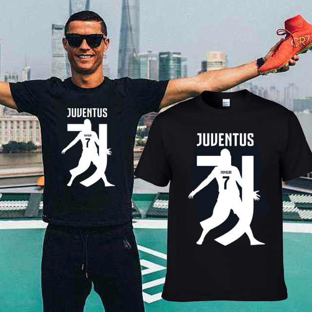 efb535726 2018 Printed for name cr7 T-shirt 7 Cristiano Ronaldo red white t shirt for