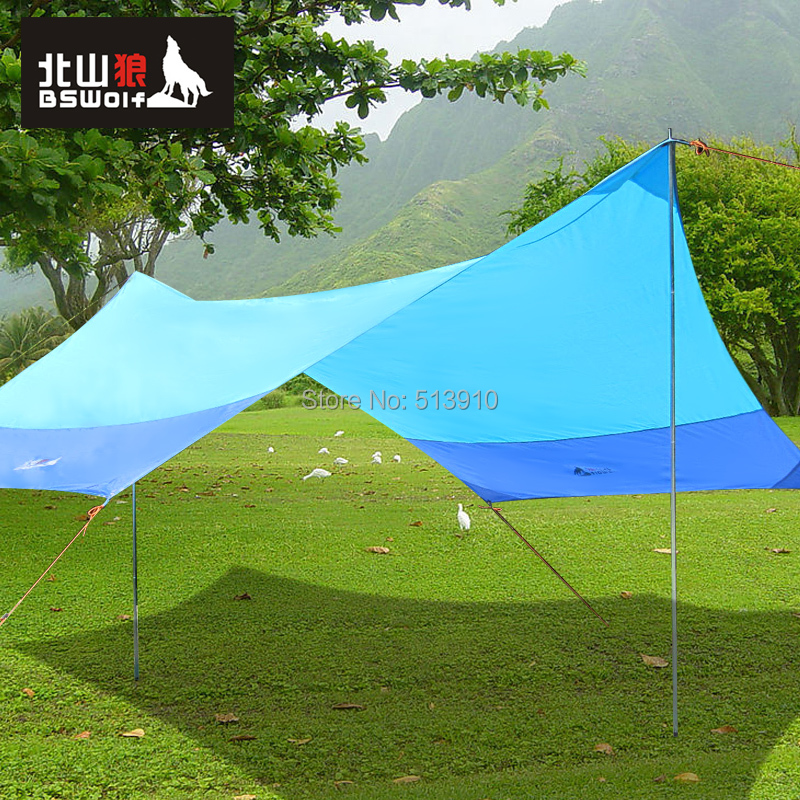 BSWolf 420*350m 210D waterproof oxford tarp tent/gazebo/sun shade tent/beach sun shading canopy large space awning-in Tents from Sports u0026 Entertainment on ... & BSWolf 420*350m 210D waterproof oxford tarp tent/gazebo/sun shade ...
