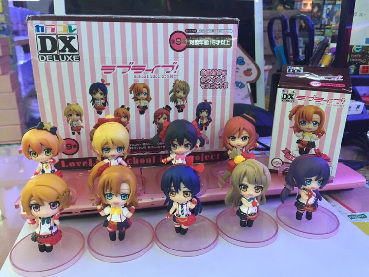9pcs/set Cute Love Live! Anime School Idol Project Boxed PVC Action Figure Collection Model Toy free shipping 9 anime love live maki nishikino birthday project boxed 22cm pvc action figure collection model toy doll gift