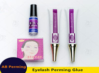 One set professonal perming cream liquid glue perming primer glue for eyelash with free shipping