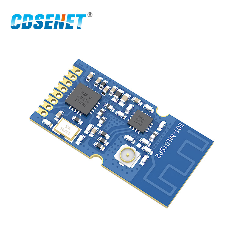 2.4GHz nRF24L01 PA Transceiver Wireless rf Module E01-ML01SP2 SMD <font><b>2.4</b></font> <font><b>GHz</b></font> SPI rf Wireless <font><b>Transmitter</b></font> and Receiver nRF24L01P image