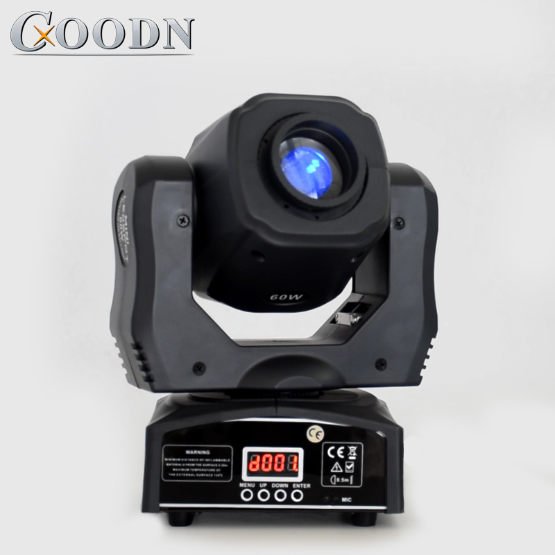 High Brightness Mini Moving Head Light Spot 60W LED With Gobos Color Plate