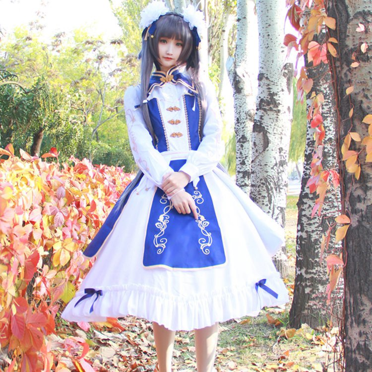 Hot Game Miracle Nikki Dream Of Spring Lolita Dress Daily Colth Cosplay Costume For Women Halloween