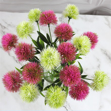 1Pc Artificial Flowers Dandelion Plastic Flower Wedding Home Party Decoration Valentines Day Office Bar Shop Table Decors