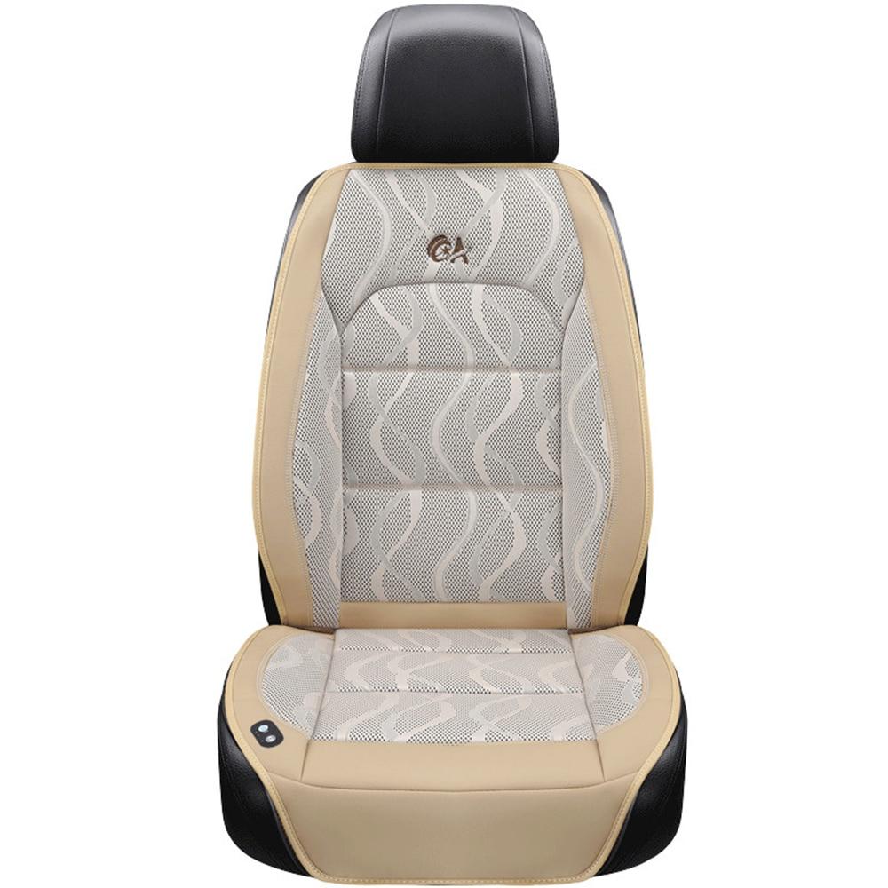 Роскошная подушка для автомобильного сиденья 12 В, воздушная подушка с вентилятором, массажные чехлы для сидений автомобиля, охлаждающий жилет, прохладная летняя вентиляционная подушка