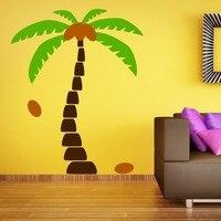 Calcomanías de pared de árbol de palma calcomanías de vinilo de árbol decoración del hogar Decoración de la pared decoración de sala de estar pegatinas de pared|wall sticker|decorative wall stickerssticker tree -