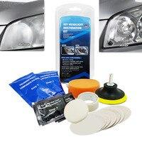 1 Set Car Headlight Lens Restoration Kit Restorer System Polishing Tool Car Head Light Sponge Cleaning