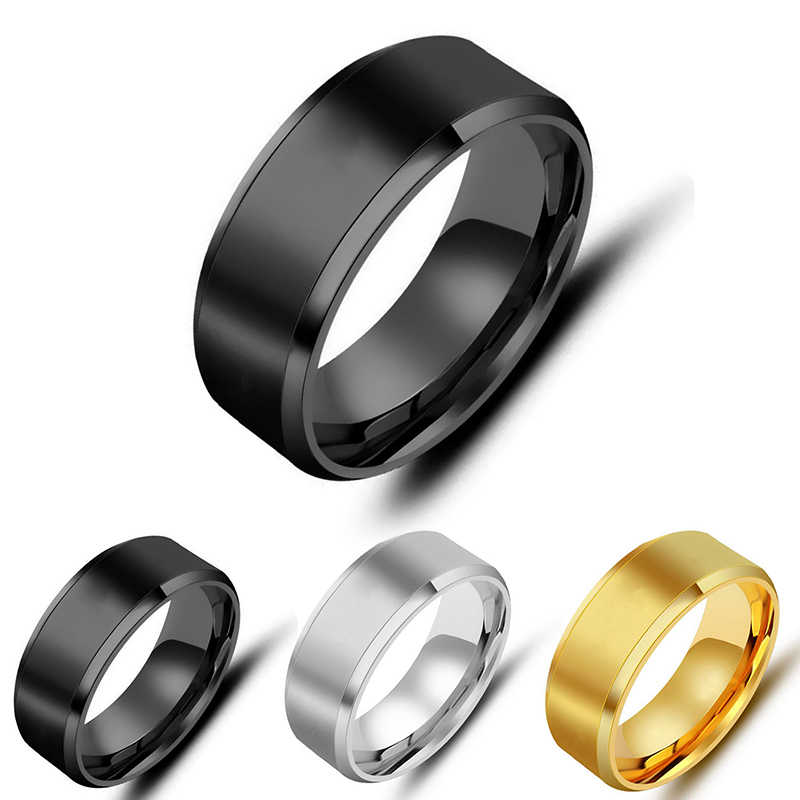 Trendy jewelry Gold/silver/Black Shell Textured Stainless Steel Titanium Ladies Rings for Men Women Wedding Party Gift 2C0103