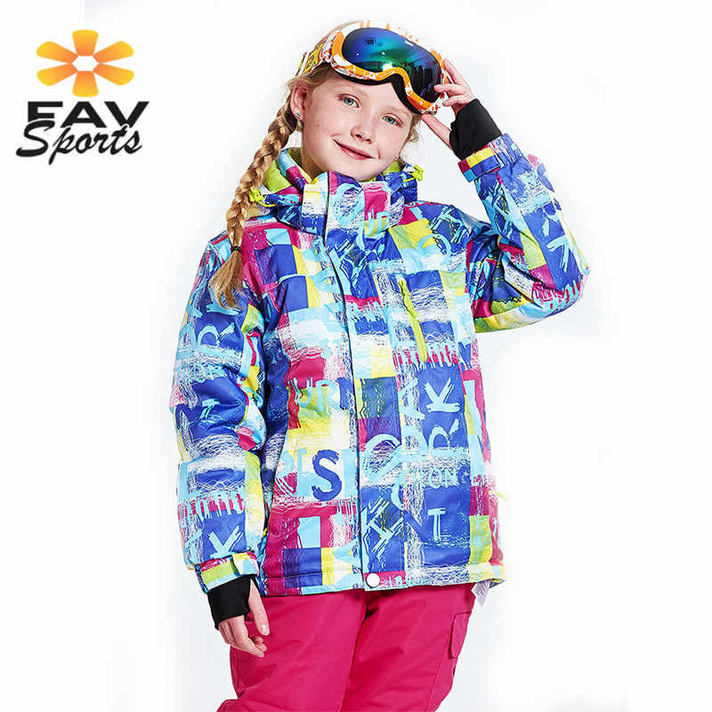 Profissão Crianças Meninas Casaco à prova de Vento Térmico Terno de Esqui Ao Ar Livre Acampamento Jaqueta De Esqui no Inverno Snowboard Ternos