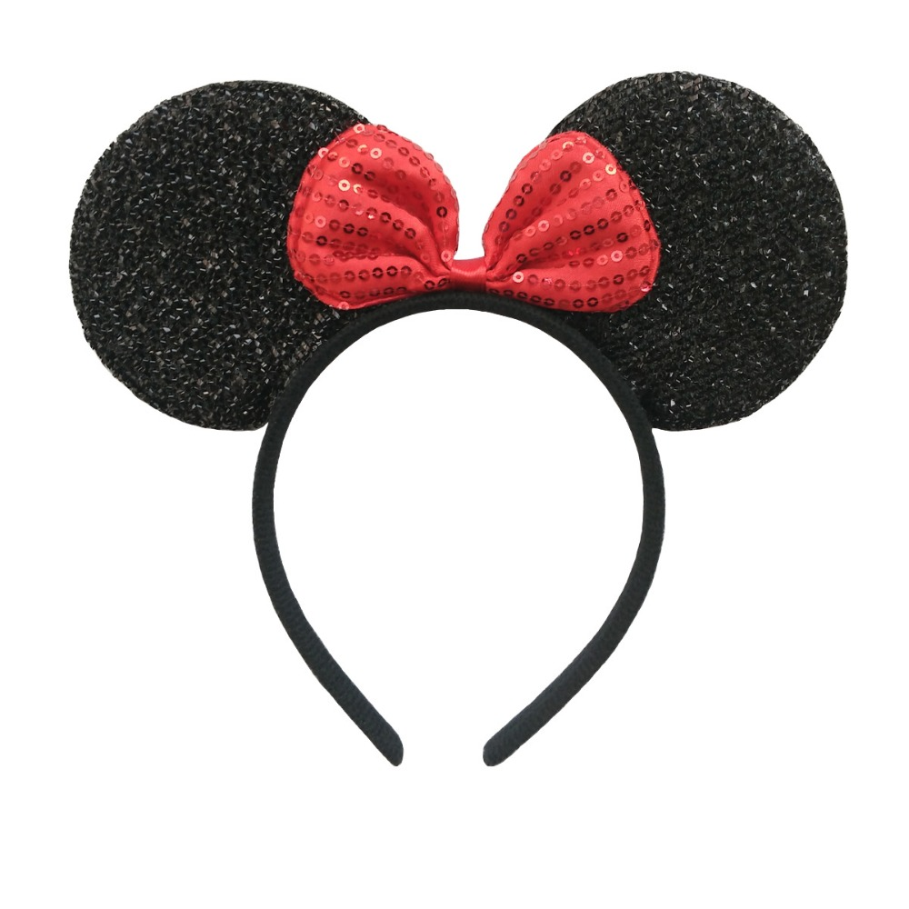 1pcs Hair Accessories Mickey Minnie Mouse Ears Solid Black