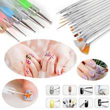 20Pcs Beauty Nail Art Design Set Dotting Painting Drawing Polish Brush Pen Fashion Nail Beauty Makeup Tools