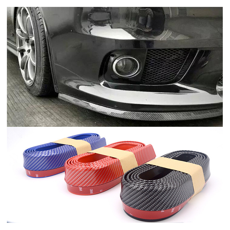 lsrtw2017 Rubber Carbon Fiber Plating car Front Bumper Skirt For jaguar f-type xe xf f-pace xj