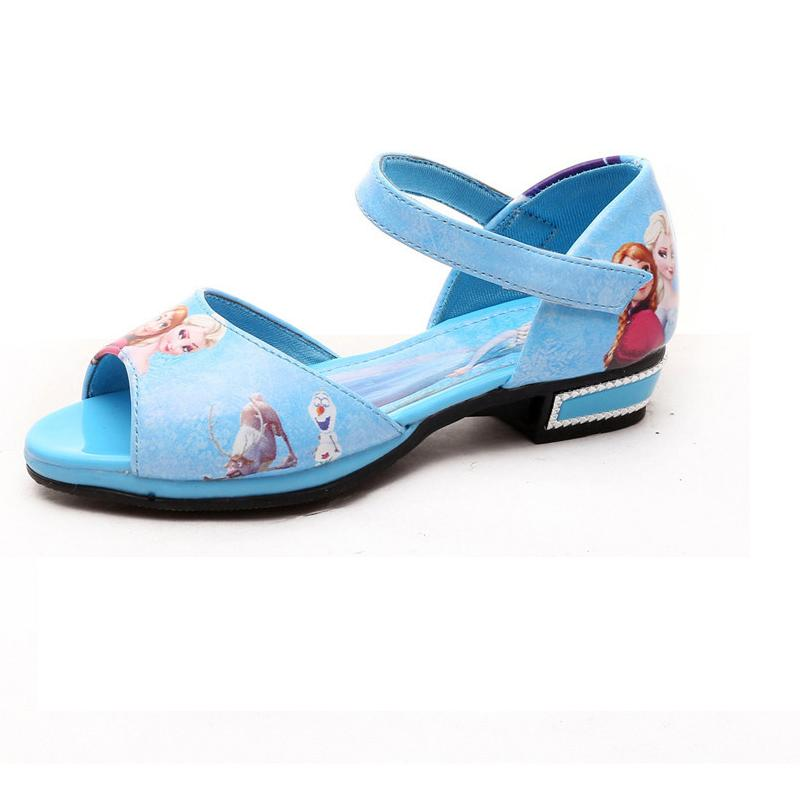 New Arrival Sandal Elsa Anna Snow Summer Shoes Child Pu Leather Fashion Girls Shoes Kids Dancing Birthday Gift Dress Sandal