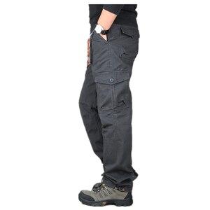Image 3 - ICPANS 2019 Tactical Pants Men Military Army Black Cotton ix9 Zipper Streetwear Autumn Overalls Cargo Pants Men military style
