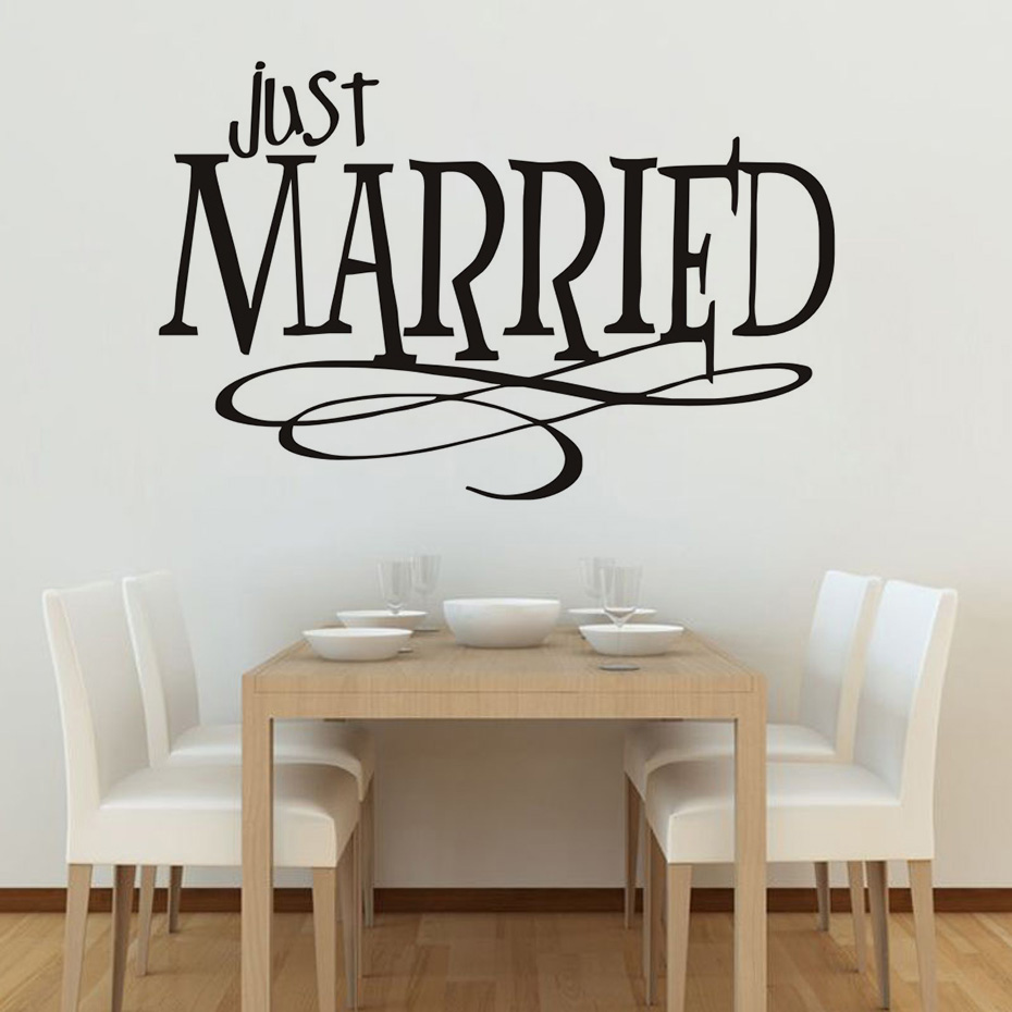Just Married Quotes Just Married Quotes Wall Sticker New Design Pvc Waterproof