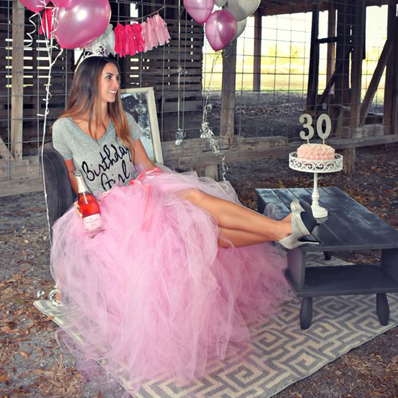 Rockabilly 2017 Pink Puffy Tulle Skirts For Pretty Lady