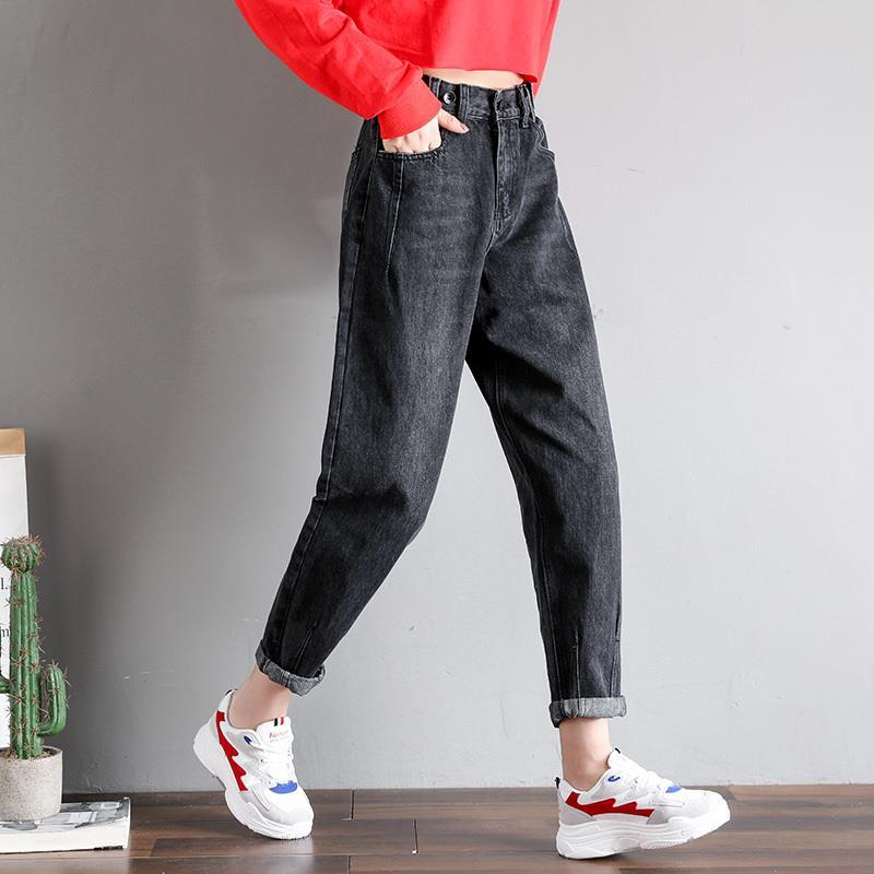 GCAROL New Women 93% Cotton Blends Pencil Denim Pants High Waisted High Street Boyfriend Style Jeans In 3 Colors Plus Size 26-32 13