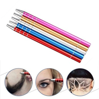 2018 Professional Salon Hair Trimmer Hair Engraving Pen Hair Styling Tool Stainless Steel Shavings Razor Eyebrows Tweezers Set Hair Trimmers