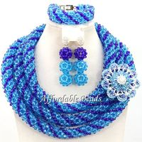 Rare Nigerian Lady Jewelry Set Fashion African Jewelry Set Unique Design Wholesale Free Shipping BN575