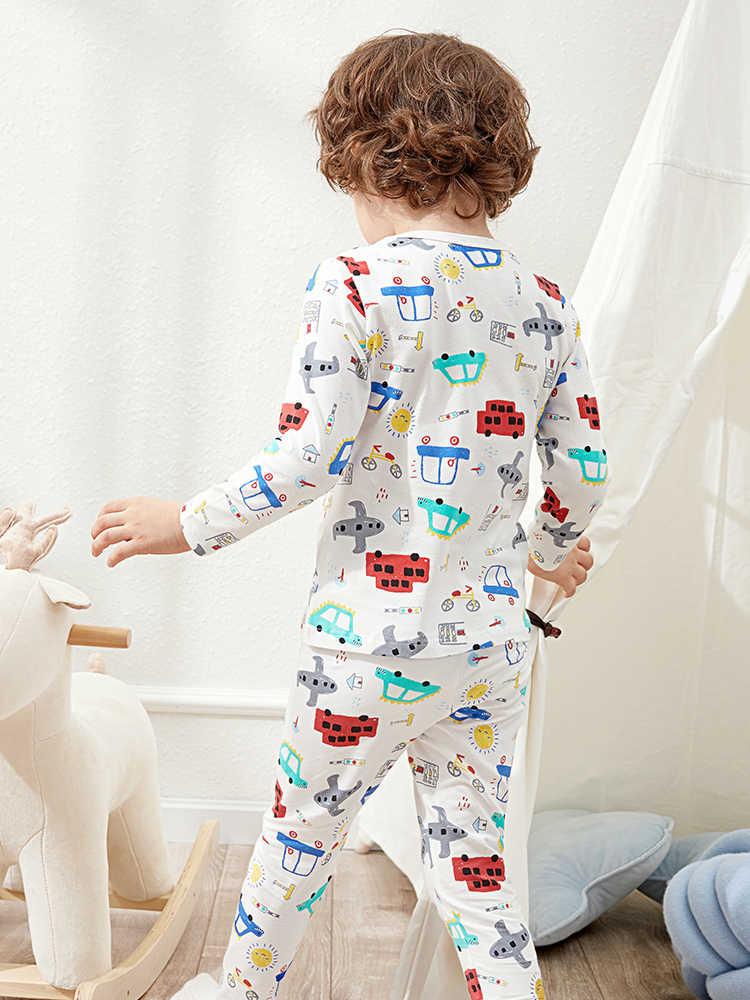 Balabala niños 2 piezas vehículo impreso Pjs conjunto niños niño 2 piezas conjunto de pijamas de algodón suave ropa de primavera
