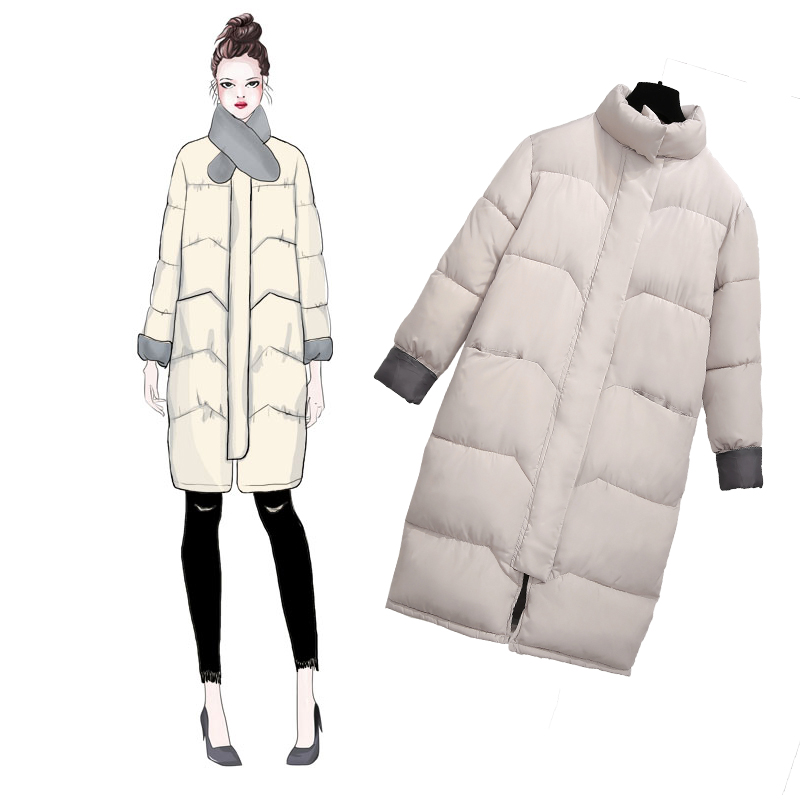 Winter jacket Women Snow wear fashion thicken parkas female 2018 New Warm Coat Stand Collar Parka Coats High Quality Plus size