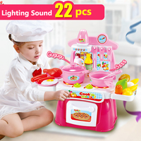 Kids Kitchen Toys Simulation Food Cooking Pretend Play Baby Kitchen Toy Set For Children's Miniature Kitchen With Fruits Toy